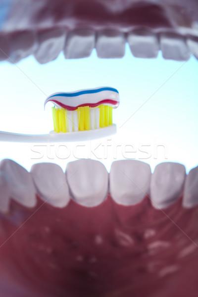 Dental objetos vidro saúde banheiro Foto stock © JanPietruszka