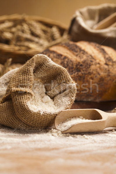 Farina tradizionale pane alimentare sfondo cena Foto d'archivio © JanPietruszka