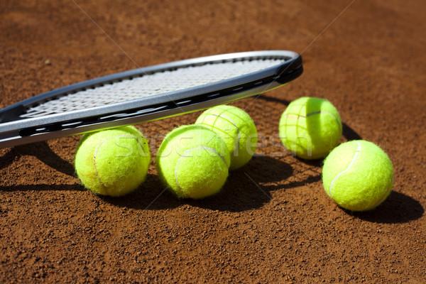 Sport racchetta da tennis sfondo giocare gioco Foto d'archivio © JanPietruszka