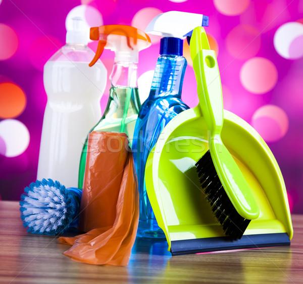 Temizlik çalışmak renkli ev grup şişe Stok fotoğraf © JanPietruszka