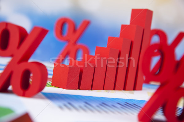 Percent sign , natural colorful tone  Stock photo © JanPietruszka
