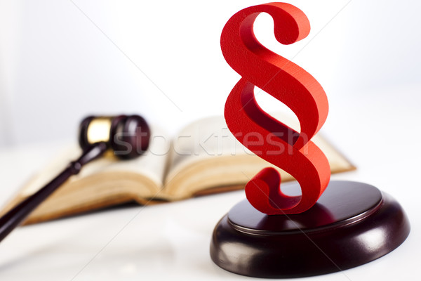 Paragraph of judge, law book justice concept Stock photo © JanPietruszka
