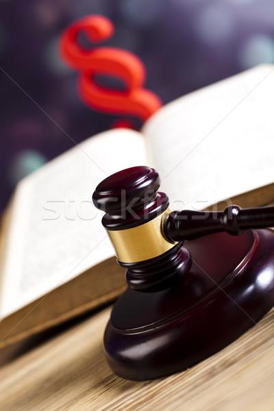 Paragraphe droit juge bois marteau bois Photo stock © JanPietruszka