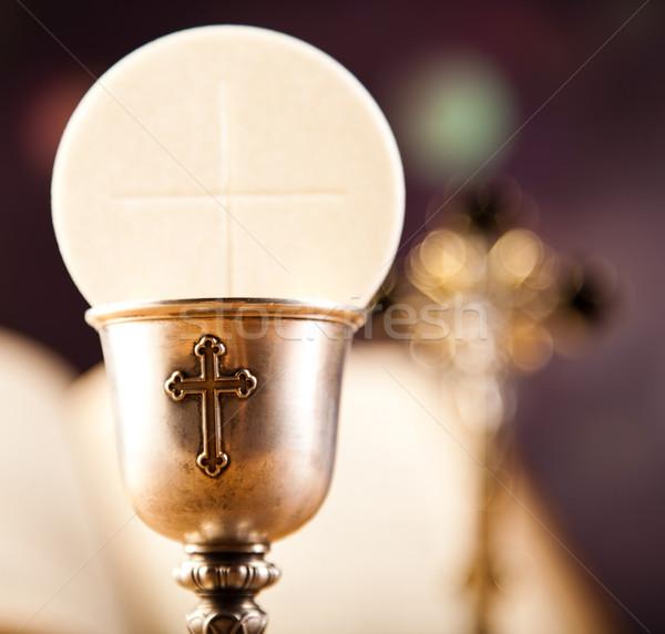 Communion lumineuses livre jesus église Photo stock © JanPietruszka