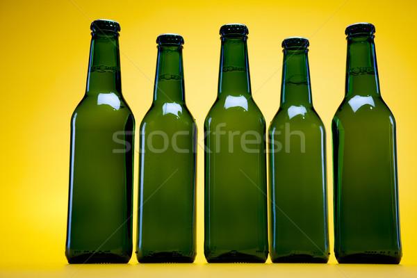 Flaschen Bier hellen lebendige Alkohol Party Stock foto © JanPietruszka