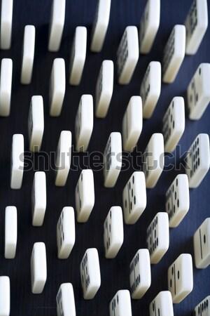 Domino, bright colorful tone concept Stock photo © JanPietruszka