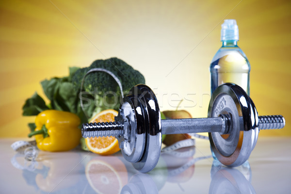 Egészséges életmód diéta fitnessz étel gyümölcs egészség Stock fotó © JanPietruszka