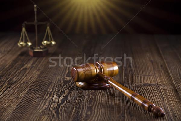 правосудия адвокат судья суд объект молоток Сток-фото © JanPietruszka