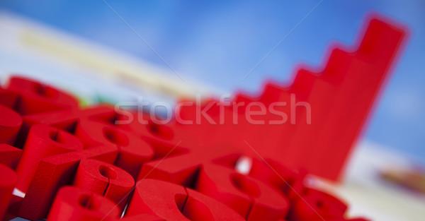 Pénzügy százalék természetes színes felirat piros Stock fotó © JanPietruszka