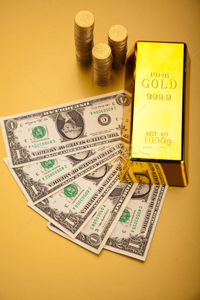 Golden Bar, ambient financial concept Stock photo © JanPietruszka