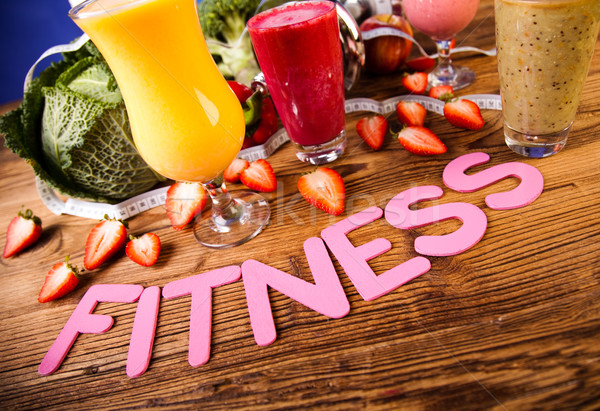 Weight loss, fitness, healthy and fresh Stock photo © JanPietruszka