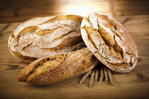 Traditionnel pain naturelles coloré alimentaire nature Photo stock © JanPietruszka