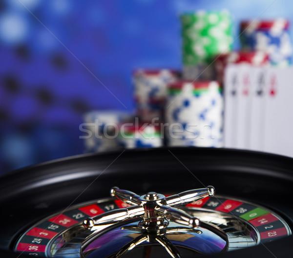 カジノ ルーレット 演奏 チップ 楽しい ストックフォト © JanPietruszka