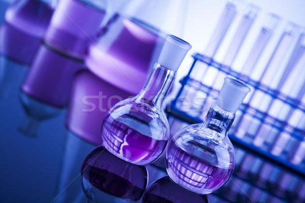 Bilim kimyasal laboratuvar züccaciye sağlık mavi Stok fotoğraf © JanPietruszka