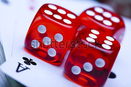 Dice, ambient light saturated theme Stock photo © JanPietruszka