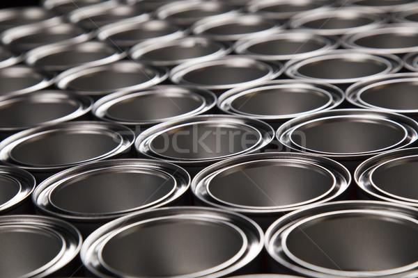 Metal tin paint cans Stock photo © JanPietruszka