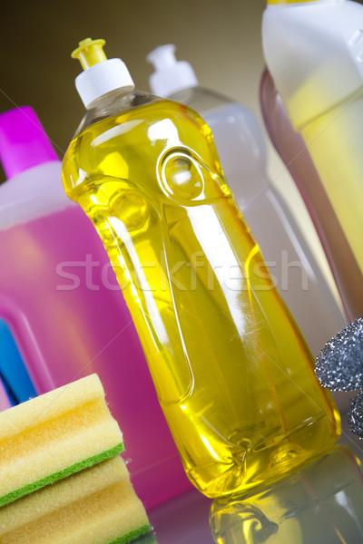 Stockfoto: Huis · schoonmaken · product · werk · home · fles