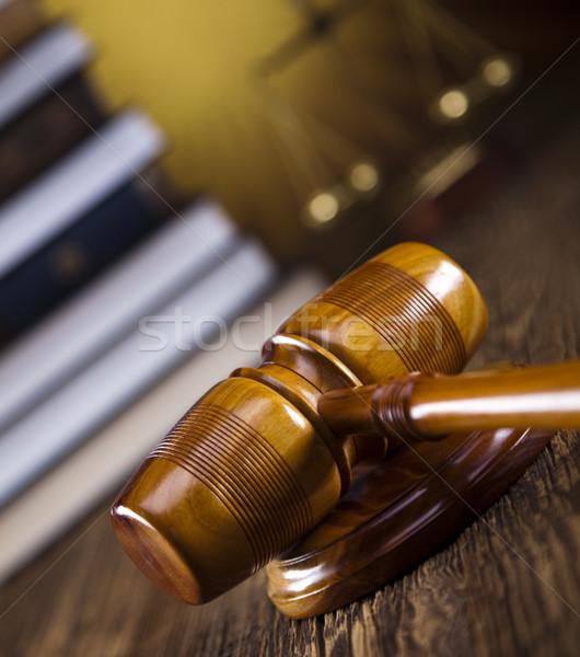 Houten hamer justitie juridische advocaat rechter Stockfoto © JanPietruszka
