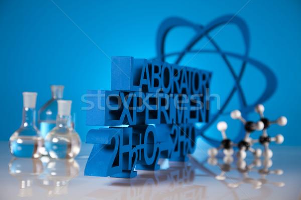 Chimica formula medicina scienza bottiglia laboratorio Foto d'archivio © JanPietruszka