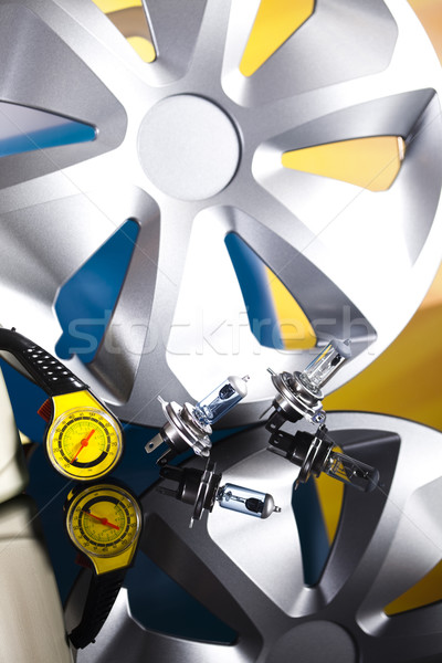Car Accessories on vivid moto concept Stock photo © JanPietruszka