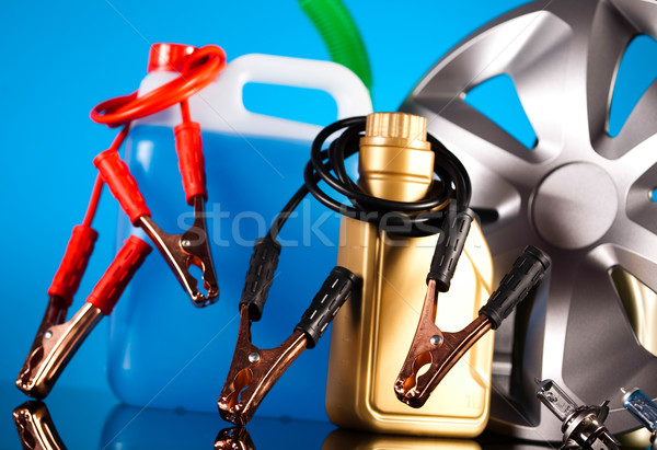 Car Auto Accessories on vivid moto concept Stock photo © JanPietruszka