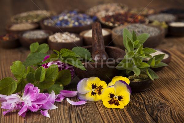 Ahşap masa doğa güzellik tıp Stok fotoğraf © JanPietruszka