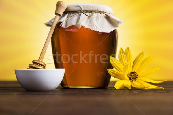 édes méz háttér hegy arany desszert Stock fotó © JanPietruszka