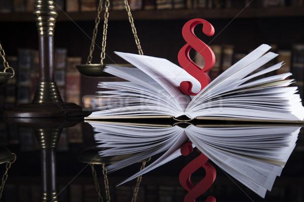 Livro lei juiz legal código justiça Foto stock © JanPietruszka