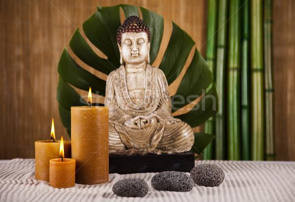 Zen buda estátua sol fumar relaxar Foto stock © JanPietruszka