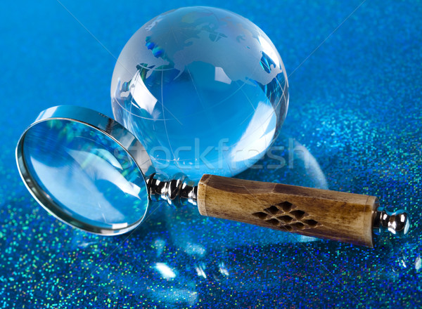 увеличительное стекло мира карта Мир земле Сток-фото © JanPietruszka