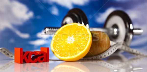 Sportu diety kaloria żywności fitness owoców Zdjęcia stock © JanPietruszka