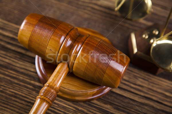Stok fotoğraf: Ahşap · tokmak · adalet · yasal · avukat · yargıç