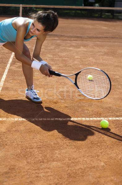 Girl Playing Tennis  Stock photo © JanPietruszka