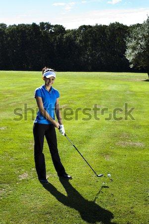 Сток-фото: играет · гольф · ярко · красочный · яркий