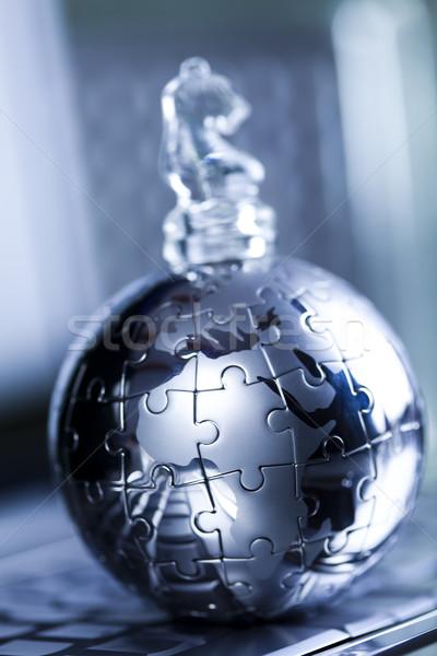 Business moderno rete simboli imprenditore puzzle Foto d'archivio © JanPietruszka