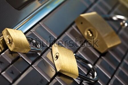 безопасности компьютер современных сеть ноутбука Сток-фото © JanPietruszka