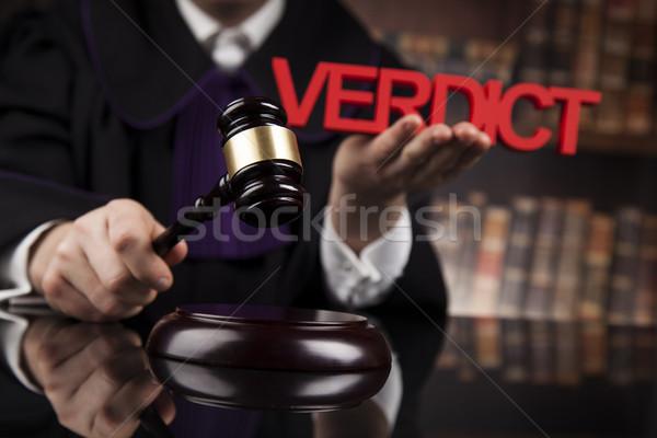 Vonnis rechter rechter justitie recht mannelijke Stockfoto © JanPietruszka