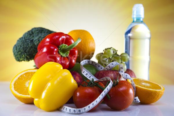 Fitness voedsel dieet plantaardige zonneschijn zon Stockfoto © JanPietruszka