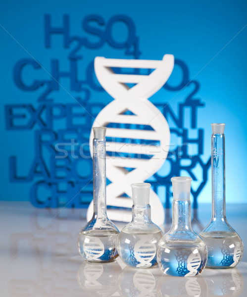 Dna moleculen laboratorium water ontwerp teken Stockfoto © JanPietruszka