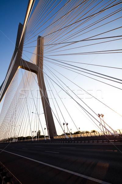 Nowoczesne most punkt orientacyjny widoku niebo budynku Zdjęcia stock © JanPietruszka