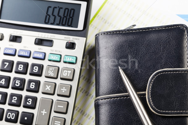финансовых ярко красочный бизнеса бумаги Финансы Сток-фото © JanPietruszka