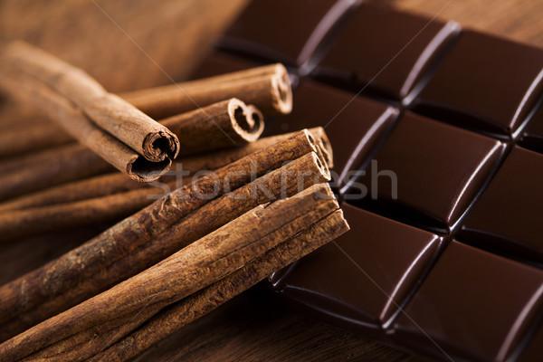 Pure chocola snoep zoete dessert voedsel kaneel Stockfoto © JanPietruszka