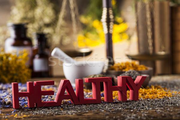 健康 ハーブ 木製のテーブル 代替医療 自然 ストックフォト © JanPietruszka