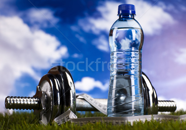 Herbe verte fitness santé muscle grasse fraîches Photo stock © JanPietruszka