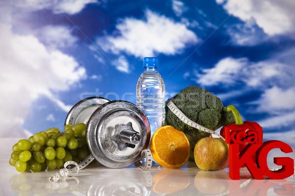 Alimenti freschi misura dieta alimentare fitness frutta Foto d'archivio © JanPietruszka
