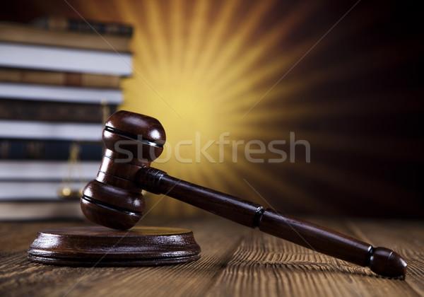 прав судья молоток адвокат суд Сток-фото © JanPietruszka