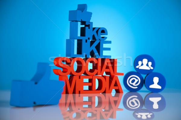 Social media icons set  Stock photo © JanPietruszka