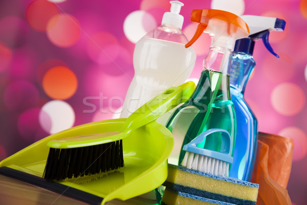 Czyszczenia wyposażenie domu pracy kolorowy grupy Zdjęcia stock © JanPietruszka