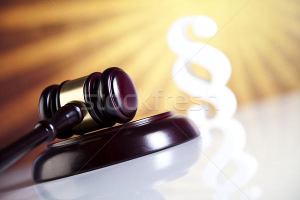 Juiz gabela parágrafo madeira justiça Foto stock © JanPietruszka