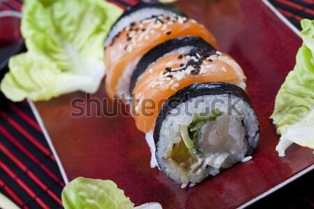 Japán keverék szusi keleti konyha színes hal Stock fotó © JanPietruszka
